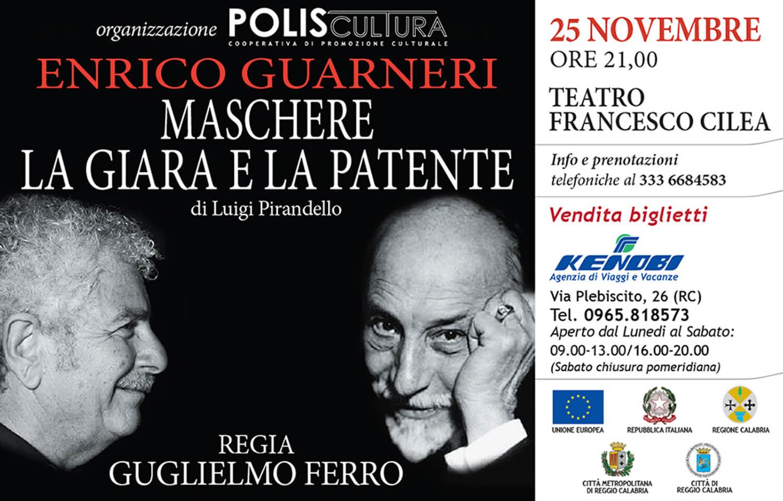 Maschere - La Giara e la Patente - Enrico Guarneri - Teatro Cilea